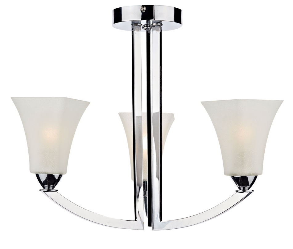 Dar Arlington Art Deco 3 Light Style Semi Flush Chrome  sc 1 st  Universal Lighting Services & Dar Arlington Art Deco 3 Light Style Semi Flush Chrome ARL0350