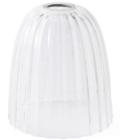 Elstead Douille Optional Ribbed Bell Glass Lamp Shade