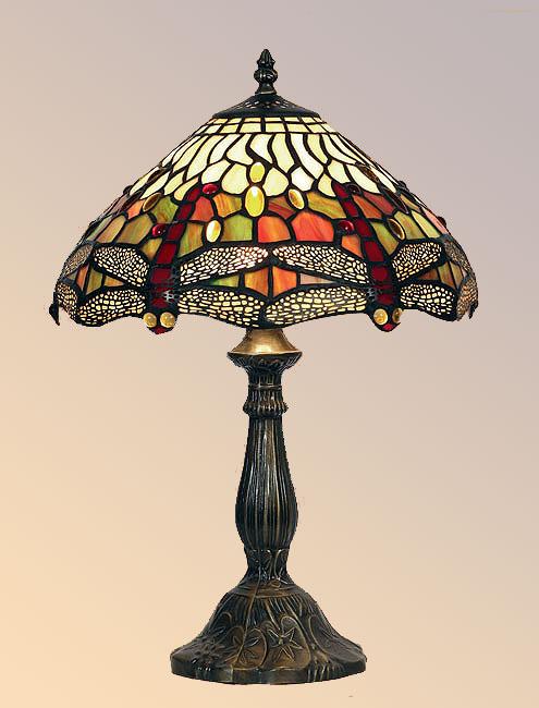 Dragonfly 300mm Tiffany Table Lamp
