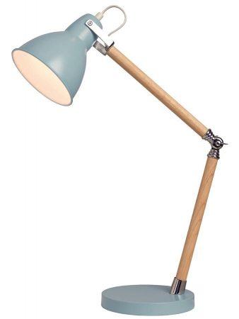 Drake Wooden Retro Style Adjustable Task Lamp Blue Metal