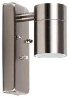 Barrow Dusk Till Dawn Outdoor Wall Downlight Stainless Steel IP44