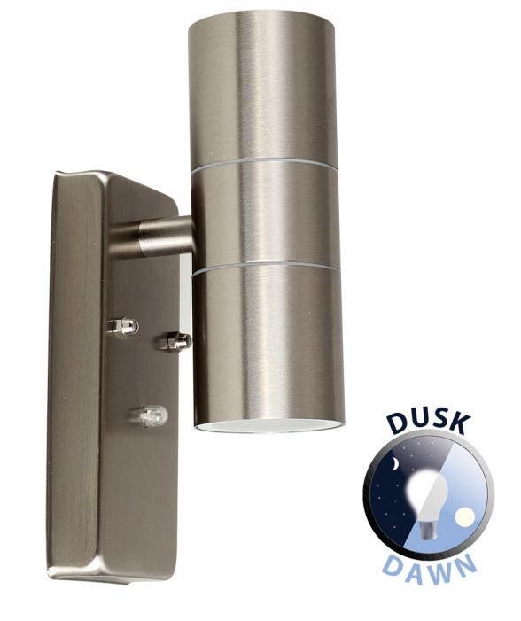 Dusk Till Dawn Stainless Steel Outdoor Wall Up And Down