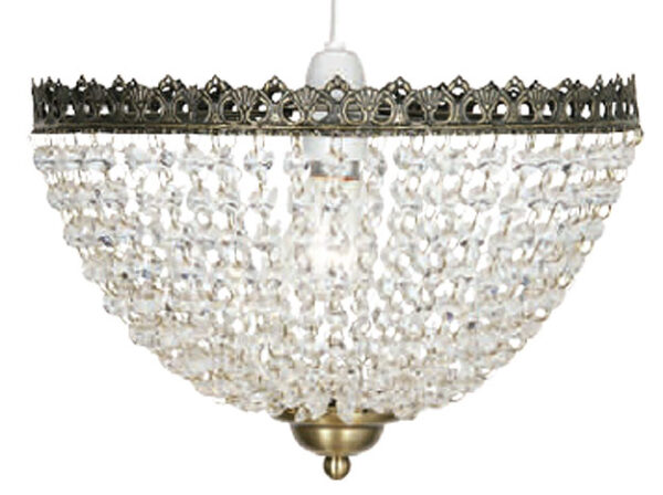 Antique Brass Glass Bead Ceiling Lamp Shade
