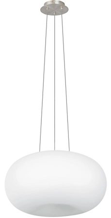 Optica Large Opal White Glass Globe 2 Light Pendant