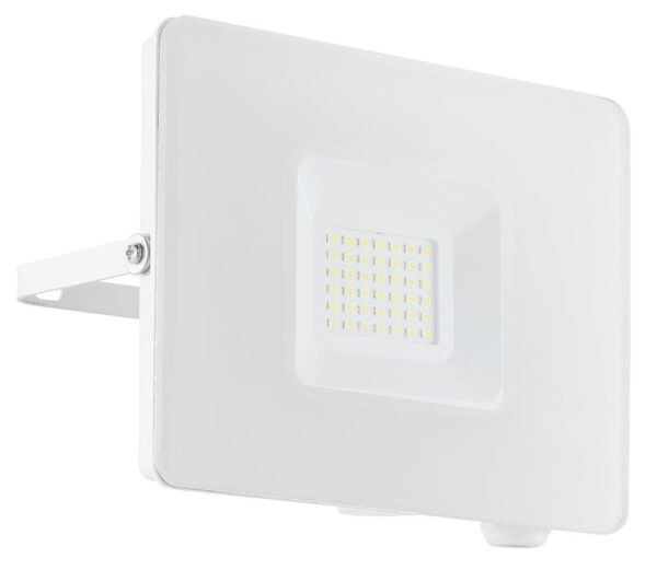 Eglo Faedo 4 White 30w LED Outdoor Security Floodlight IP65