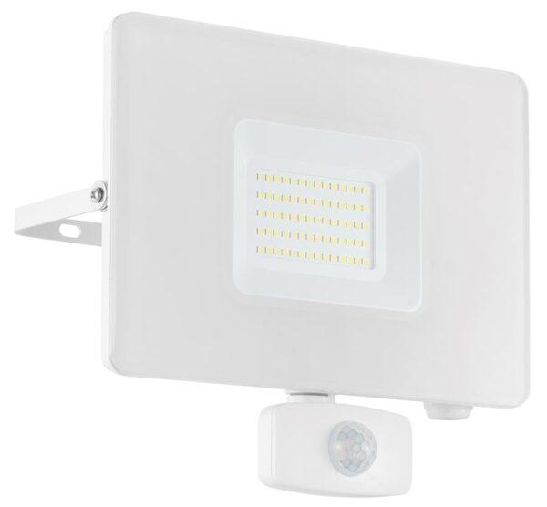 Eglo Faedo 4 White 50w LED Outdoor PIR Security Floodlight IP44