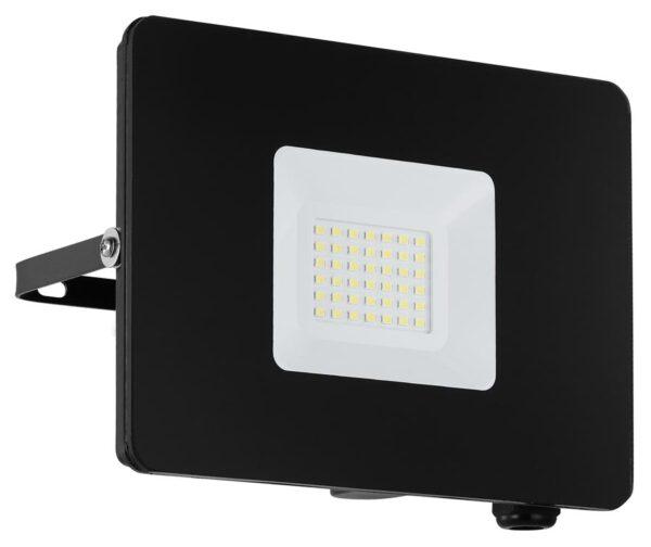 Eglo Faedo 4 Black 30w LED Outdoor Security Floodlight IP65