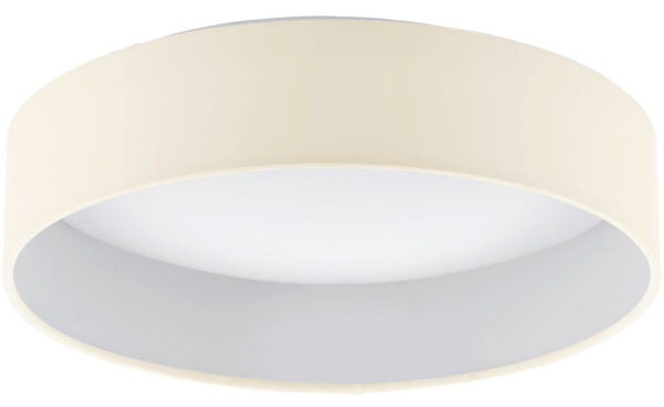 Palomaro 11w LED Flush Mount Cream Fabric Circle Ceiling Light