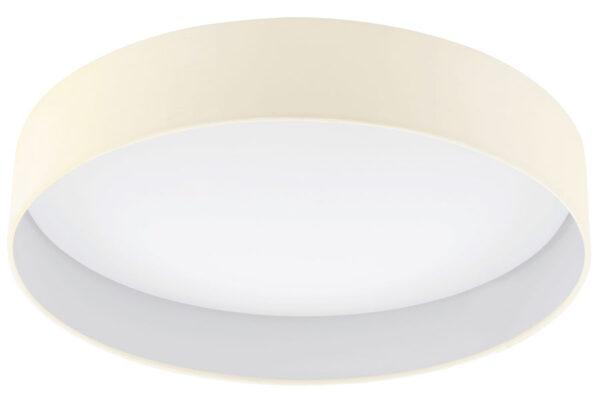 Palomaro 24w LED Large Flush Mount Cream Fabric Circle Ceiling Light