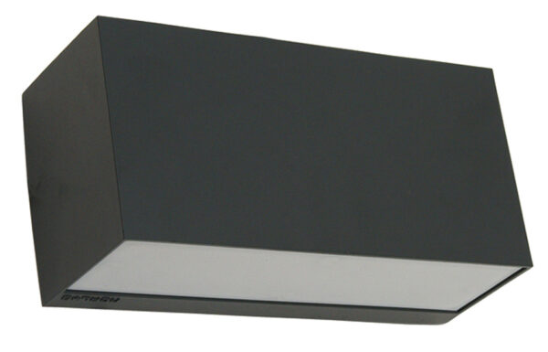 Norlys Asker Up & Down Outdoor Wall Light Box Graphite Aluminium IP54