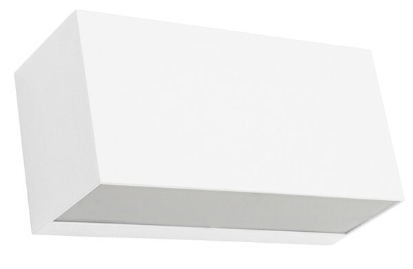 Norlys Asker Up & Down Outdoor Wall Light Box White Aluminium IP54