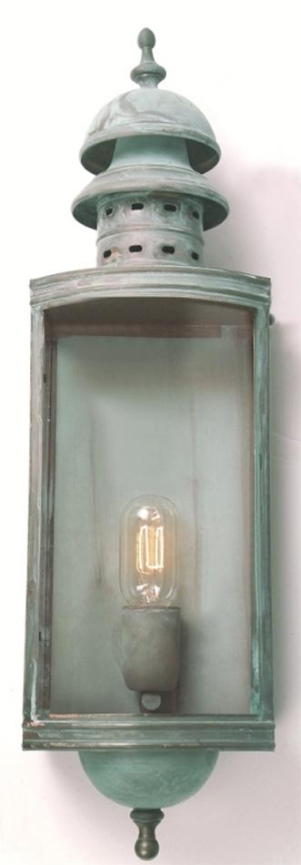 Large Verdigris Solid Brass Replica Garden Wall Light