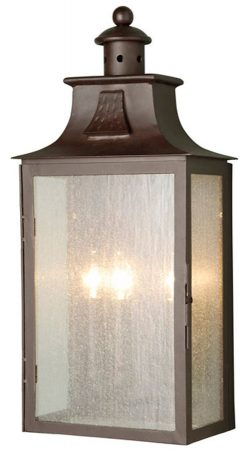 Elstead Balmoral Large Outdoor 3 Light Half Wall Lantern Old Bronze