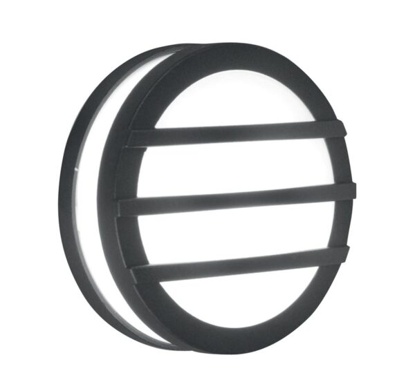 Elstead Ano Small Round Outdoor Wall / Porch Light Bars Graphite IP54