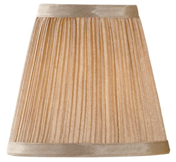 Mushroom Pleated 6 Inch Clip On Chandelier / Wall Light Lamp Shade