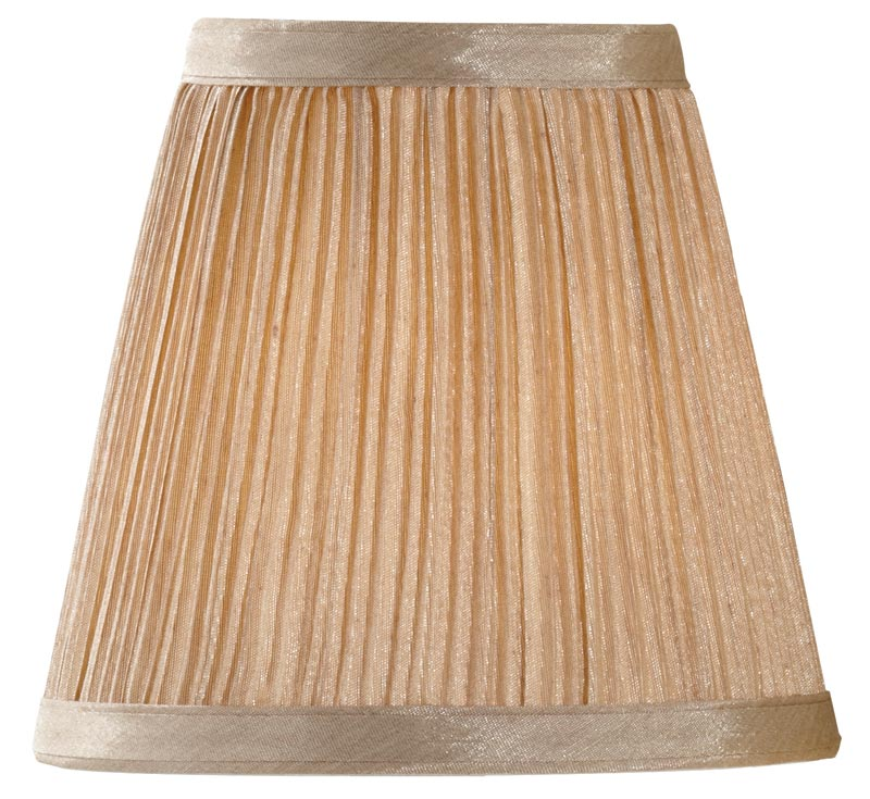 Mushroom Pleated 6 Inch Clip On Chandelier Wall Light