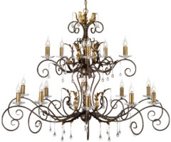 Amarilli Bronze & Gold 15 Light 2 Tier Very Large Chandelier
