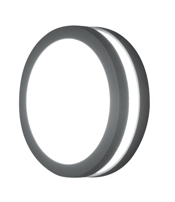 Elstead Ano Small Round Outdoor Wall / Flush Porch Light Graphite IP54
