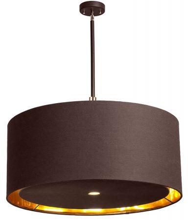 Elstead Balance Brown / Polished Brass 4 Light Extra Large Pendant