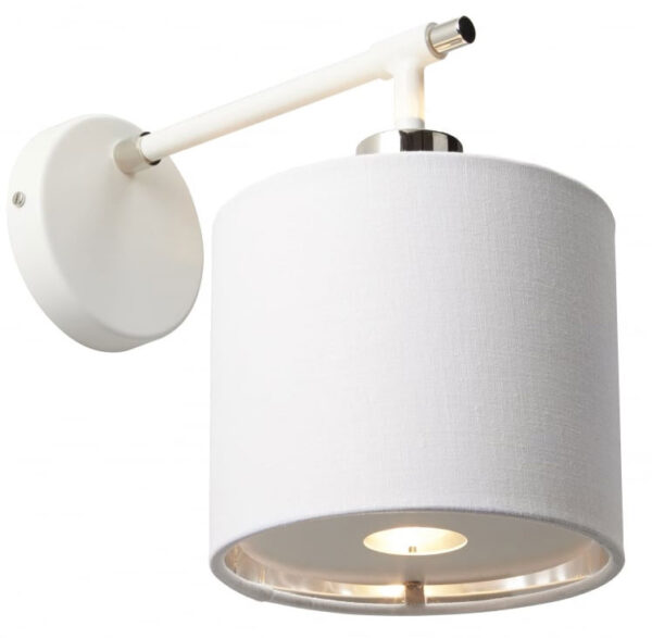 Elstead Balance White / Polished Nickel Single Wall Light White Shade