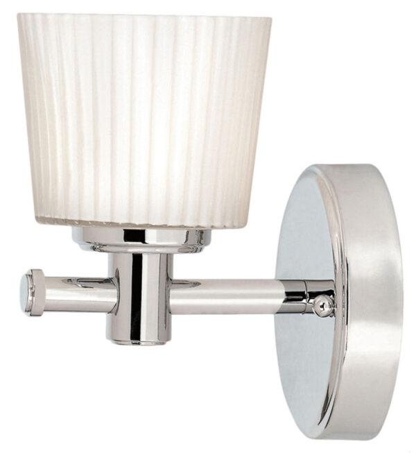 Elstead Binstead Single Bathroom Wall Light Polished Chrome Opal Glass