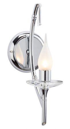 Elstead Brightwell Single Bathroom Wall Light Polished Chrome IP44