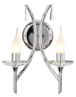 Elstead Brightwell Twin Bathroom Wall Light Polished Chrome IP44