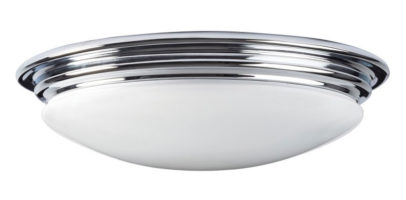 Elstead Brompton 7w LED Flush Bathroom Ceiling Light Polished Chrome