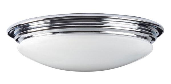 Elstead Brompton 7w LED Flush Bathroom Ceiling Light Polished Chrome