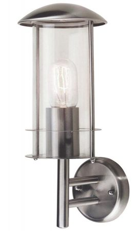 Elstead Bruges 1 Light Outdoor wall Lantern Stainless Steel