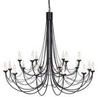 Elstead Carisbrooke 18 Light Massive Chandelier Gothic Black Ironwork