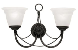 Elstead Carisbrooke Twin Wall Light Gothic Black Made In Britain