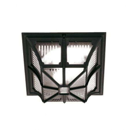 Elstead Chapel 1 Light Flush Mount Outdoor Porch Light Black
