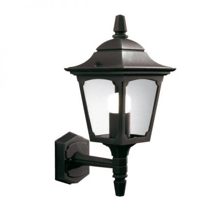 Elstead Chapel Mini 1 Light Upward Outdoor Wall Lantern Black