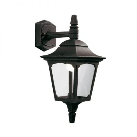 Elstead Chapel Mini 1 Light Downward Outdoor Wall Lantern Black