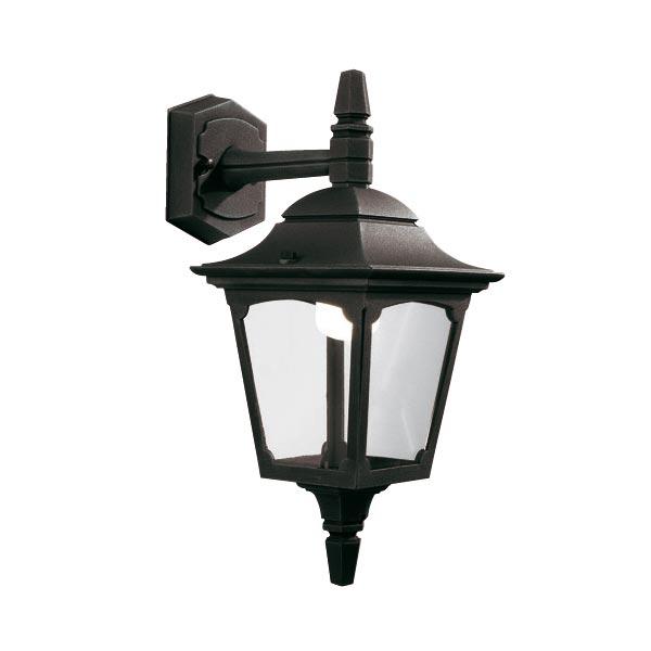 Elstead Chapel Mini 1 Light Downward Outdoor Wall Lantern Black