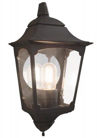 Elstead Chapel 1 Light Tapered Outdoor Half Lantern Black