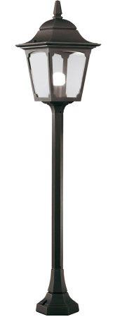 Elstead Chapel Mini 1 Light Outdoor Pillar Lantern Black