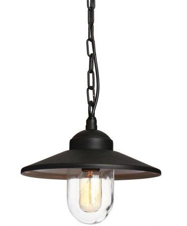 promo code 3e97c 3838e Elstead Klampenborg Stainless Steel Hanging Outdoor Porch Light Black