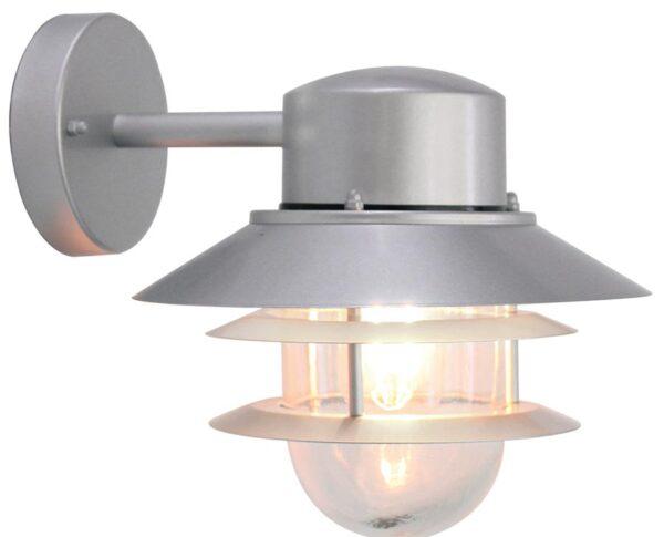 Elstead Copenhagen Silver 1 Light Outdoor Wall Lantern Stainless Steel