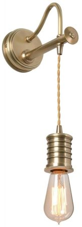 Elstead Douille Hanging Wall Light Aged Brass Vintage Industrial Style