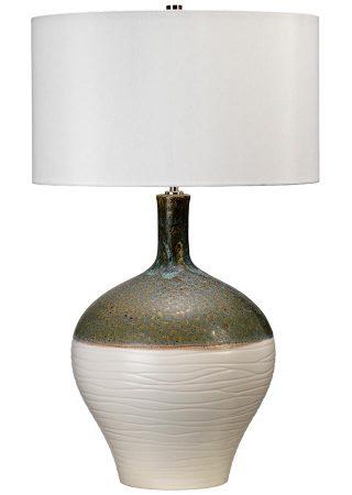Elstead Eden Park Textured Ceramic Table Lamp Cream Shade