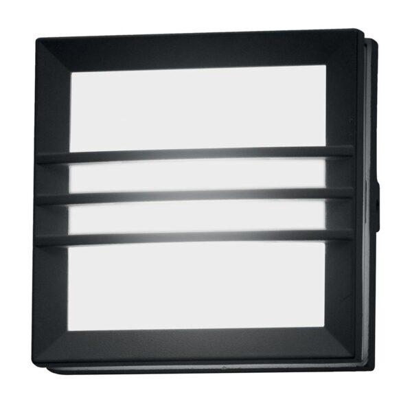 Elstead Egil Small Square Outdoor Wall / Porch Light Bars Graphite IP54