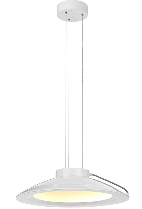 Elstead Europa 35W Dimmable LED Large Pendant Ceiling Light White