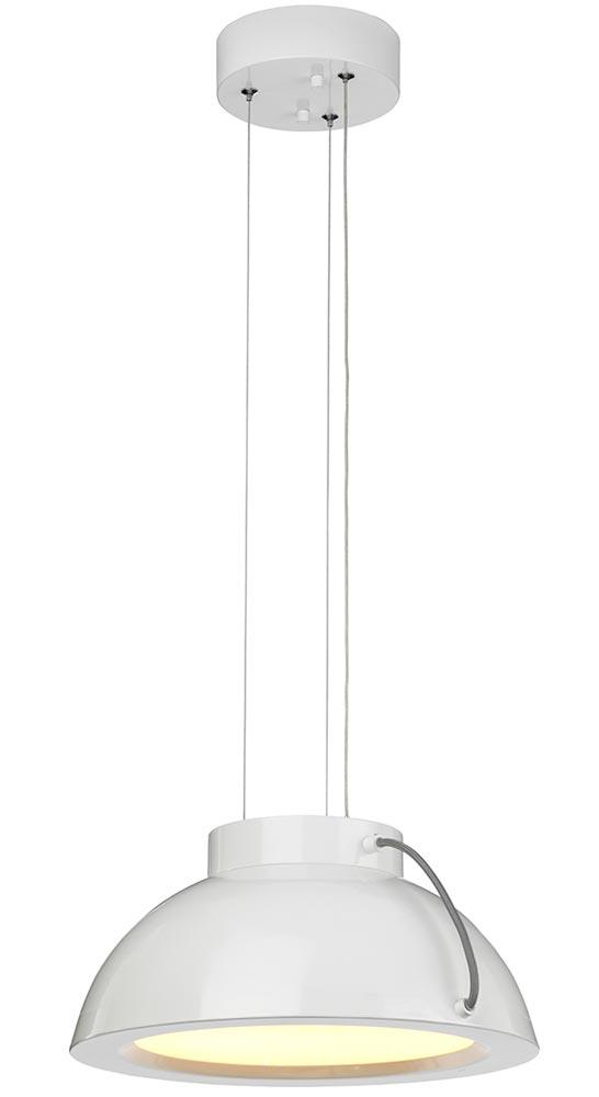 Elstead Europa 25W Dimmable LED Medium Pendant Ceiling Light White