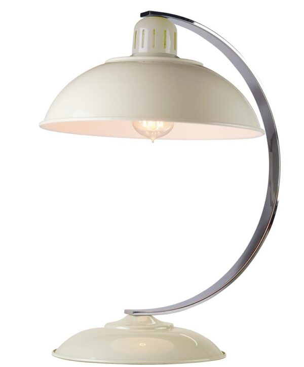 Elstead Franklin Retro Style Industrial Table Lamp Gloss Cream