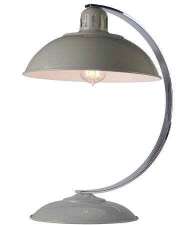 Elstead Franklin Retro Style Industrial Table Lamp Gloss Grey