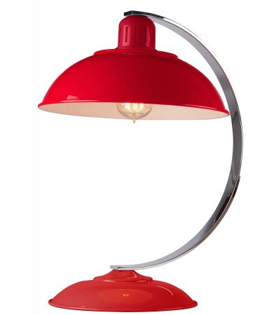 Elstead Franklin Retro Style Industrial Table Lamp Gloss Red