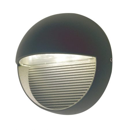 Elstead Freyr 6w LED Round Outdoor Wall Light Graphite IP54