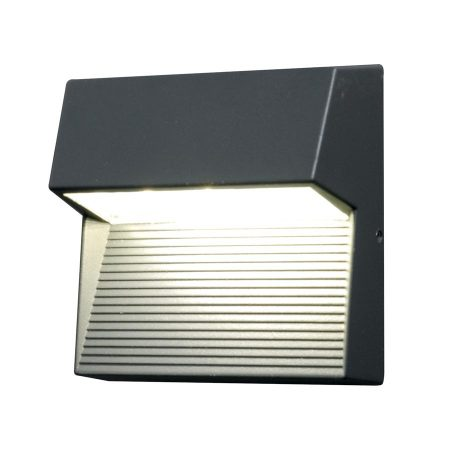Elstead Freyr 6w LED Square Outdoor Wall Light Graphite IP54